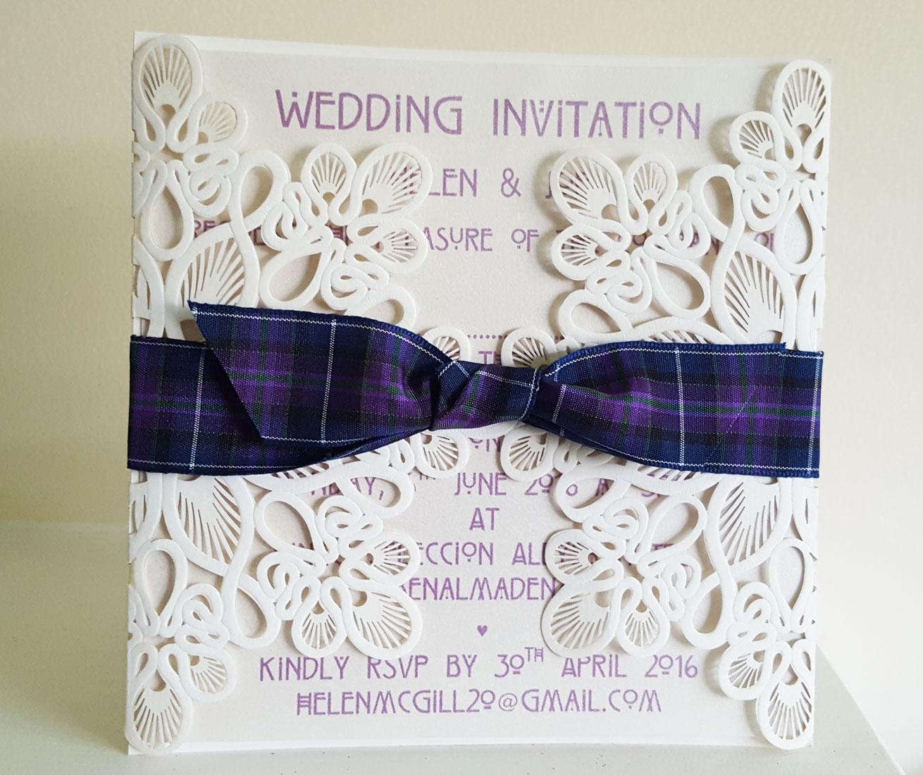 Scottish Wedding Theme Lea Stationery
