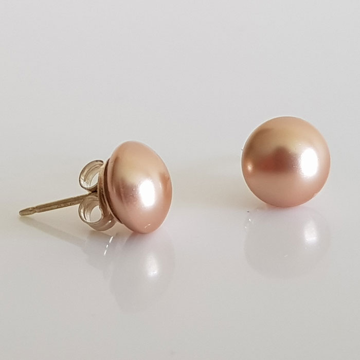 16aa23adc Classic Swarovski Pearl Stud Earrings Rose Gold - LEA Stationery
